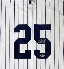 YANKEES GLEYBER TORRES AUTOGRAPHED SIGNED MAJESTIC JERSEY SIZE L BECKETT 159242