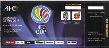Collectors Ticket Yangon United v Kelantan FA, AFC Cup Asia Myanmar Burma Malaysia