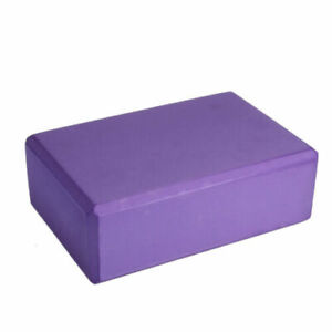 1pc Purple Yoga Block Foam Brick Stretching Aid Gym Pilates For Exercise Fitness