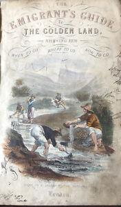 1850 California : Emigrants Guide to Golden Land : Mormon Settlements Gold Rush