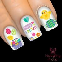 EASTER SPRING CHICKEN Nail Water Transfer Decal Sticker Art Tattoo