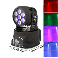 7 LED mini Moving Head Pan 540  Spot Light DMX512 stage party DJ Lighting 140W
