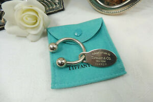 Vintage Tiffany & Co. Sterling Silver Key Tag/Ring 925