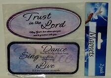 2 Pack Of Inspirational Magnets Trust & Dance Full Inspiration Written NIP