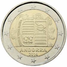 Andorra 2 euro 2014 unc coin Andorre