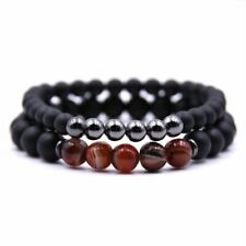 Tigers Eye, Hematite and Wood Bracelet Combo Top Quality Jewellery For Men A320