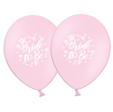 """Bride to Be - Crown and Diamonds - 12""""  Light Pink Latex Balloons pack of 25"""