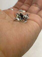 retired james avery sterling silver ladybug dogwood flower ring size 6.25