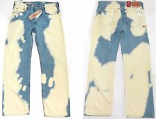 $70 Mens LEVIS Jeans 569 LOOSE STRAIGHT 40 x 30 Bleached Blue vintage ACID