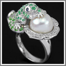 Emerald Cubic Zirconia Sterling Silver Fine Rings