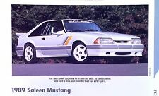 1989 Ford Mustang Saleen SSC V8 5.0 EFI 302 ci 292 hp Info/spec/photo price 11x8