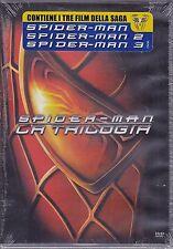 3 Dvd Box Cofanetto **SPIDER-MAN 01+02+03** La Prima Trilogia/Saga Completa nuov