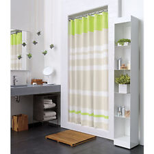 Crate and Barrel / Cb2- LIVELY SHOWER CURTAIN- NIP- Sour Apple/White/Beige- NIP