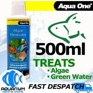 Aqua One Aquarium Fish Tank Algae Eliminator 500ml Treatment Algae Killer