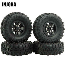 Injora 4Pcs AX-4020C 1.9'' 1/10 Crawler Tires with Beadlock Wheel Rim for RC Car