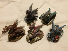 5 x Small Resin Dragon Figures - Good Condition