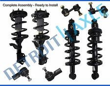 8pc Front & Rear Strut Coil & Spring Sway Bar Outer Tie Rod 2002-2006 Honda CR-V