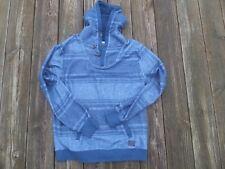 Billabong Men's Pullover Hoodie w/ Buttons Shades of Blue, Size Medium