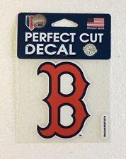 "Boston Red Sox 4"" x 4"" B Logo Truck Car Auto Window Die Cut Decal Team Colors"