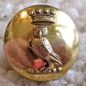 Ex Rare and fabulous OWL with a crown livery button, ca. 1890s/early 1900s