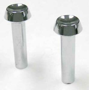 Ford Mustang 1965 1966 Door Lock Knobs Buttons Chrome 1 pair 65 66 classic Ford