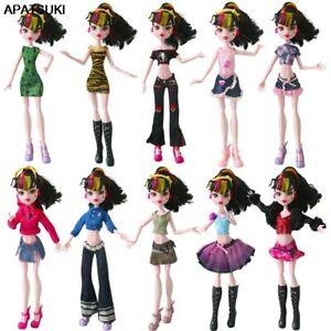 Fashion Summer Dress For Monster High Doll Skirt Short Dress Tops Pants Outfits