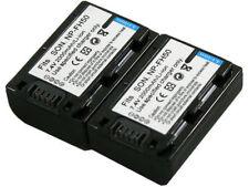 New 2 piece NPFH60 NP-FH50 FH100 Batteries for DCR-DVD103 DVD108 DVD150 DVD203