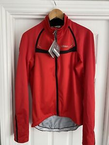 Craft Performance Bike Stretch Mens Cycling Jacket - Red - Size Large - BNWT