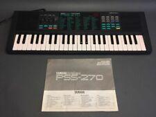 Yamaha PSS-270 Portasound Electronic Keyboard with ac power adapted & manual