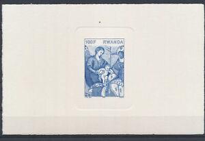 LN49356 Rwanda religious art paintings imperf sheet MNH
