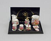"9911020 Reutter Casa de Muñecas Miniatura"" Serie de Baño Dresde Rosa """