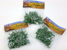 """3 BAGS 2"""" TALL ASSORTED GREEN ARMY MEN FIGURES DIORAMA PLASTIC"""