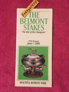 GEM MINT 1986 BELMONT STAKES PROGRAM DANZIG CONNECTION WOODYS 5TH FERDINAND HOF