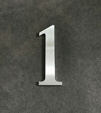 Zahl 1 Metall Edelstahl Zahlen Hausnummern Schilderbeschriftung Schriftzüge 6cm
