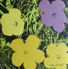 ANDY WARHOL POPPY FLOWERS 1986 HAND NUMBERED 1698/2400 SIGNED LITHOGRAPH