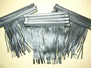 15 Stück Fliegenstirnband Fliegenhaube aus Leder schwarz Gr. Cob