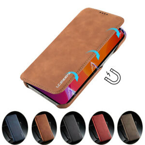 For iPhone 13 12 Mini 12 13 Pro Max Slim Leather Wallet Case Magnetic Flip Cover