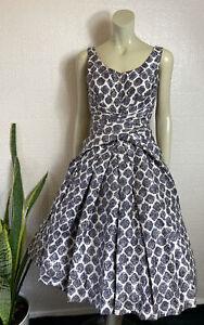 Vintage 1950's Frank Usher Dress Party Rockabilly Size 6 / 8