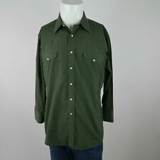 Panhandle Slim Green Pearl Snap Button Cotton Business Dress Shirt Mens 16 33