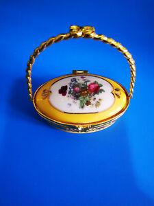 The Regal Collection Porcelain Floral Trinket Ornament