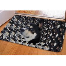 Funny Dog Doormat Flannel Anti-slip Absorbent Soft Floor Rug Funny Carpet Mat