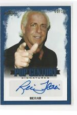 Ric Flair BLUE 5/10 AUTO 2015 Leaf Pop Century Card WWE WWF WCW