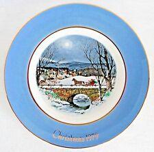 Enoch Wedgwood Avon Christmas Plate Series 1979 Full Moon Scene England
