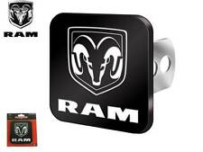 Dodge Ram Tow Towing Hitch Cover Black & White Ram Fits All Rams 1500 2500 3500