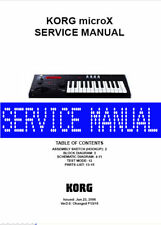 KORG MicroX  Micro-X  REPAIR / SERVICE MANUAL w/ Schematics