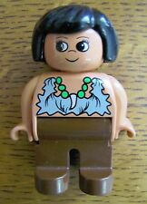 "LEGO DUPLO CAVE WOMAN PREHISTORIC LADY WOMAN MOM 2.5"" FIGURE from DINOSAUR SET"