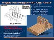 Progetto pantografo FRESA CNC ROUTER 3 assi(Plans MDF Milling Kress Dremel Nema)
