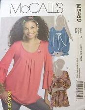 McCall's Misses sewing pattern M5469  Pullover Tunics Size Y (Xsm-Sml-Med) Uncut