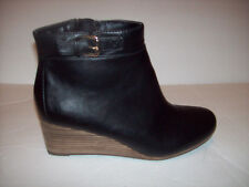 New Dr.Scholls DAINA MEMORY COOL FIT  women's black wedge ankle boots Sz 9.5M