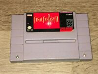 Final Fantasy II 2 Super Nintendo Snes Battery Saves Cleaned Tested Authentic